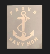Navy Fouled Anchor Window Decal